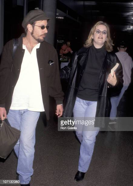 Trisha Yearwood and Robert Reynolds during Trisha Yearwood Sighting at the Los Angeles International Airport February 25 1996 at LAX in Los Angeles...