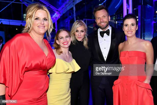 Trisha Yearwood Anna Chlumsky Judith Light Joel McHale and Elizabeth Musmanno attend the 2017 Fragrance Foundation Awards Presented By Hearst...