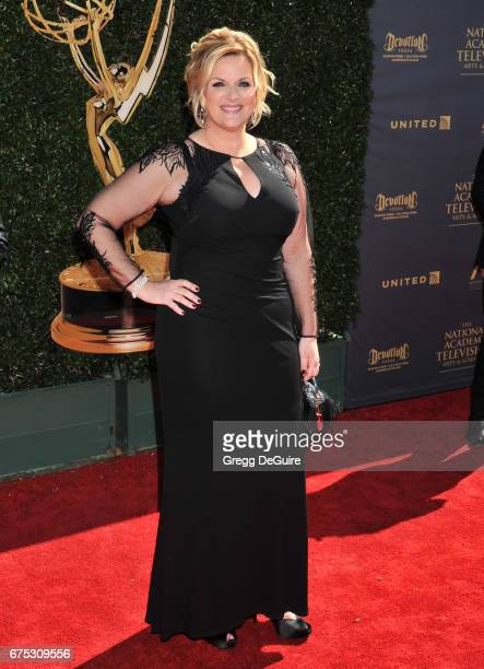 Trisha Yearwood arrives at the 44th Annual Daytime Emmy Awards at Pasadena Civic Auditorium on April 30 2017 in Pasadena California