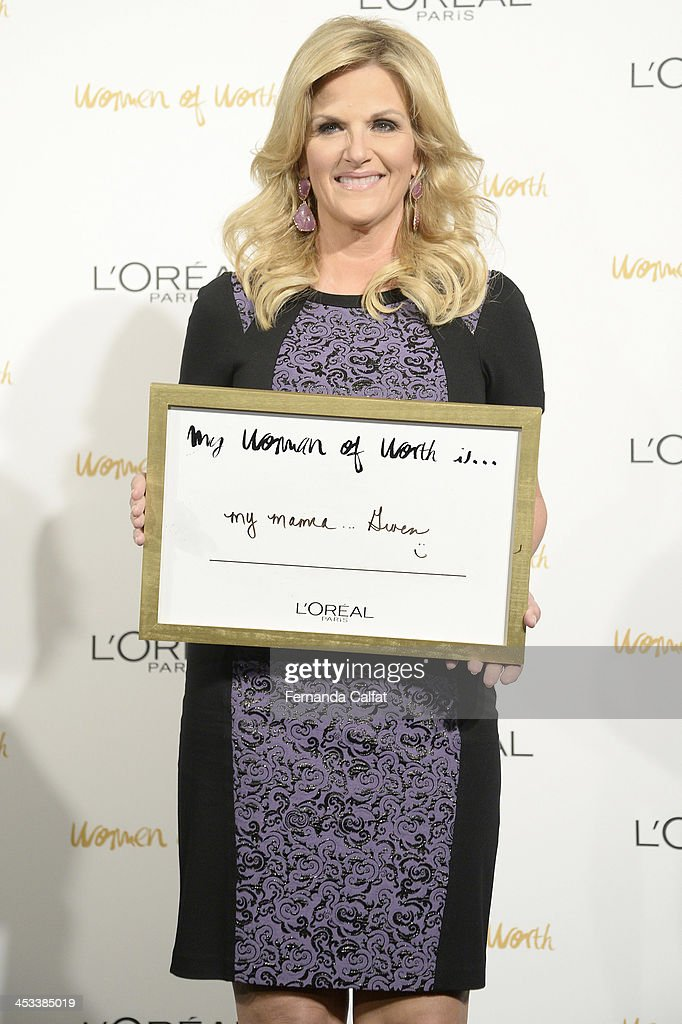 <a gi-track='captionPersonalityLinkClicked' href=/galleries/search?phrase=Trisha+Yearwood&family=editorial&specificpeople=216434 ng-click='$event.stopPropagation()'>Trisha Yearwood</a> attends L'Oreal Paris' Women of Worth 2013 at The Pierre Hotel on December 3, 2013 in New York City.