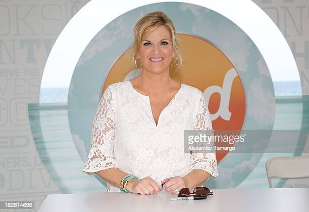 Trisha Yearwood attends South Beach Wine and Food Festival 2013 Grand Tasting Village on February 24 2013 in Miami Beach Florida