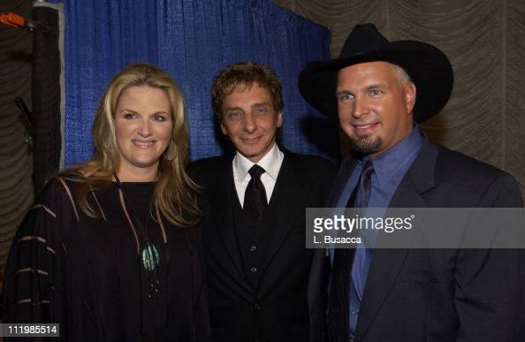 Trisha Yearwood Barry Manilow Garth Brooks during Songwriters Hall of Fame Awards VIP Room at Sheraton Hotel in New York City New York United States