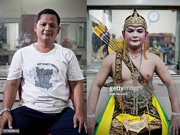 Trisno player of Wayang Orang Sriwedari poses to photograph as the Wayang Orang Sriwedari group continue their traditional performances at Sreiwedari...