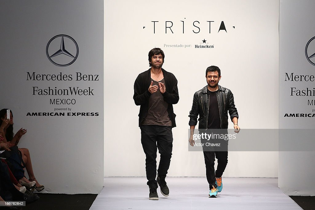 Trista fashion designes walk the runway during the first day of Mercedes-Benz Fashion Week Mexico Fall/Winter 2013 at Carpa Santa Fe on April 15, 2013 in Mexico City, Mexico.