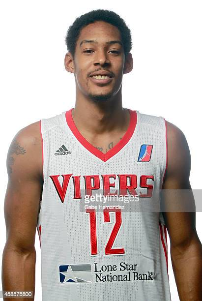 Tristan Carey of the Rio Grande Valley Vipers poses for a photos during media day on Nov 6 2014 State Farm Arena in Hidalgo Texas NOTE TO USER User...