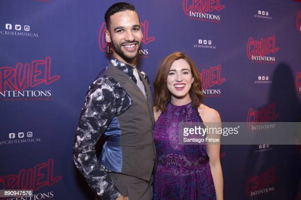 Tristan J Shuler and Stephanie Brown attend 'Cruel Intentions' The 90's Musical Experience at Le Poisson Rouge on December 11 2017 in New York City
