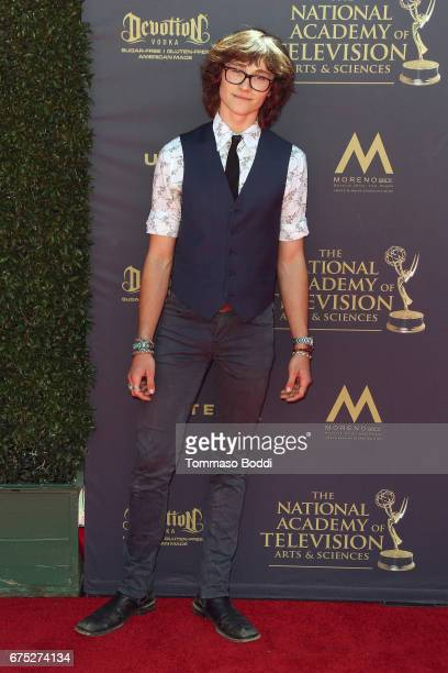 Tristan Lake Leabu attends the 44th Annual Daytime Emmy Awards at Pasadena Civic Auditorium on April 30 2017 in Pasadena California