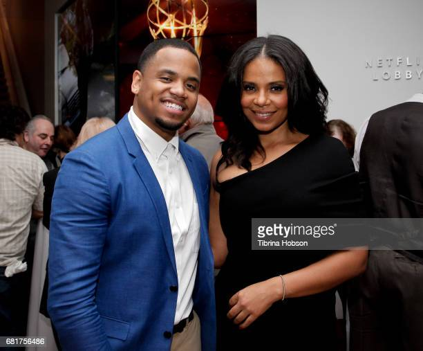 Tristan Mack Wilds and Sanaa Lathan attend Fox's 'Shots Fired' FYC event after party on May 10 2017 in North Hollywood California