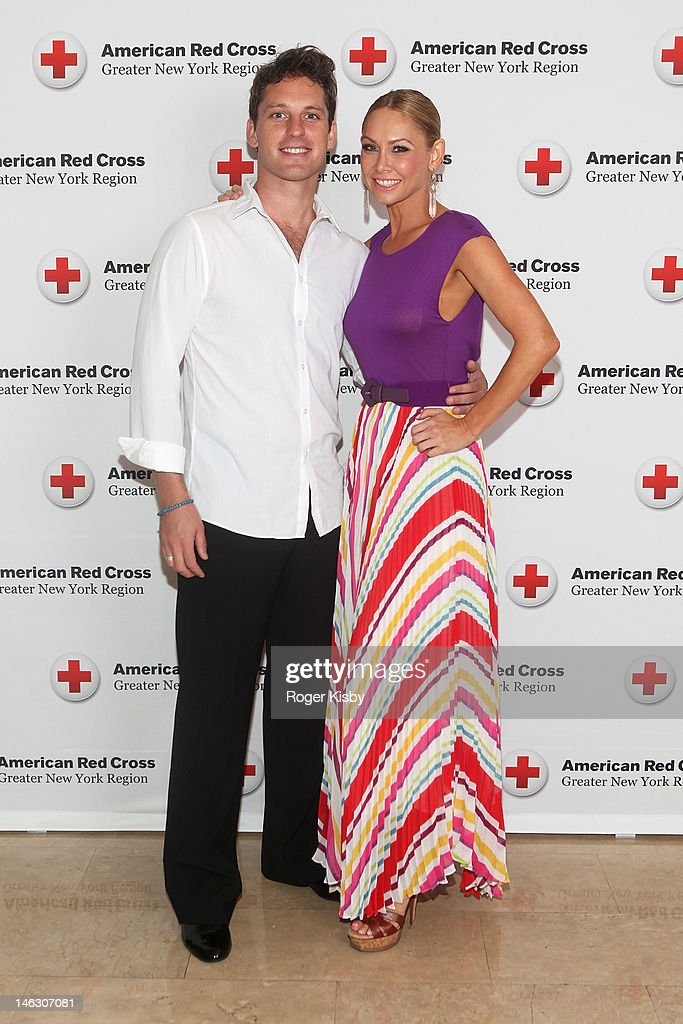 Tristan MacManus and <a gi-track='captionPersonalityLinkClicked' href=/galleries/search?phrase=Kym+Johnson+-+Dancer&family=editorial&specificpeople=2577423 ng-click='$event.stopPropagation()'>Kym Johnson</a> attend the 2012 New York Red Cross Ball at The Plaza Hotel on June 13, 2012 in New York City.
