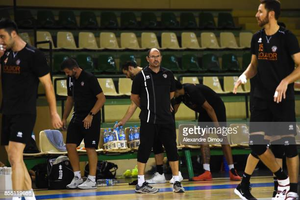 Tristan Martin Coach of Narbonne during the Volleyball friendly match on September 22 2017 in Montpellier France