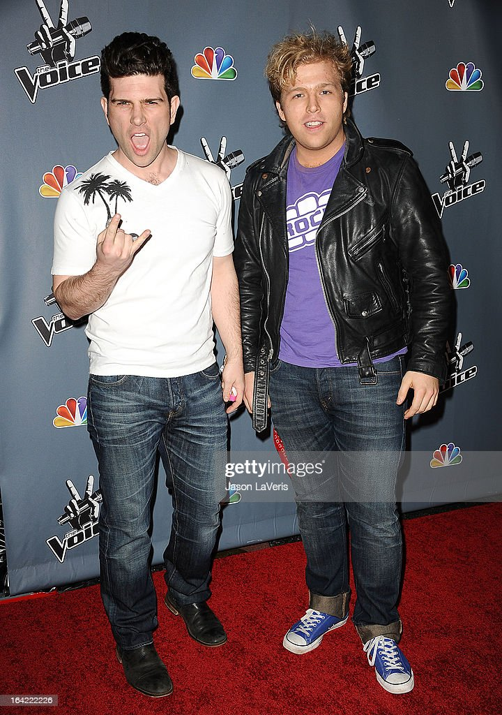 Tristan Shields and Rory Shields attend NBC's 'The Voice' season 4 premiere at TCL Chinese Theatre on March 20, 2013 in Hollywood, California.