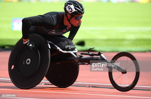 Tristan Smyth of Canada competing Men's 5000m T54 Round 1 Heat 1 during World Para Athletics Championships at London Stadium in London on July 22 2017