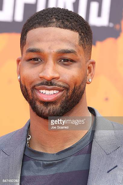 Tristan Thompson arrives at Nickelodeon Kids' Choice Sports Awards 2016 at UCLA's Pauley Pavilion on July 14 2016 in Westwood California