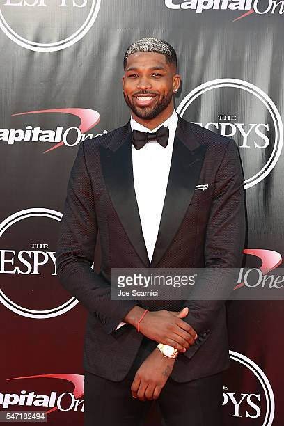 Tristan Thompson arrives at The 2016 ESPYS at Microsoft Theater on July 13 2016 in Los Angeles California