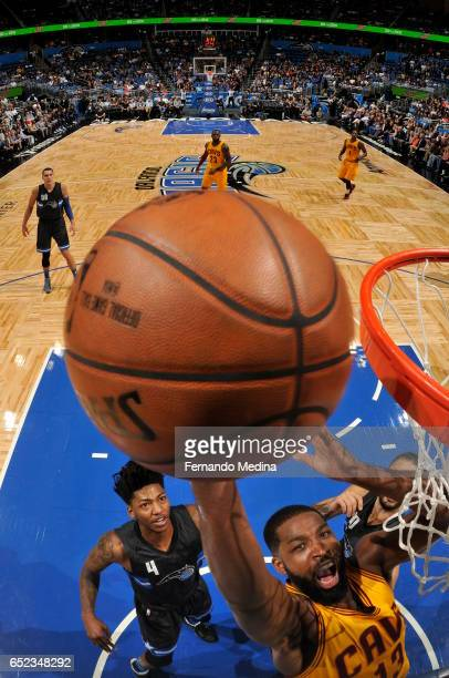 Tristan Thompson of the Cleveland Cavaliers dunks against the Orlando Magic during the game on March 11 2017 at Amway Center in Orlando Florida NOTE...