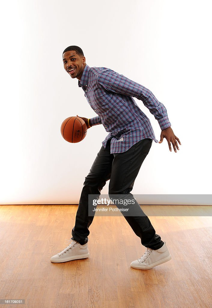 Tristan Thompson #13 of the Cleveland Cavaliers poses for portraits during the NBAE Circuit as part of 2013 All-Star Weekend at the Hilton Americas Hotel on February 14, 2012 in Houston, Texas.
