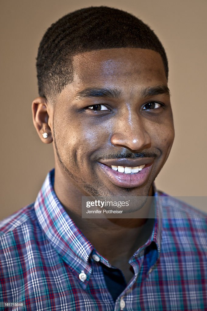 Tristan Thompson of the Cleveland Cavaliers poses for portraits during the NBAE Circuit as part of 2013 All-Star Weekend at the Hilton Americas Hotel on February 14, 2012 in Houston, Texas.