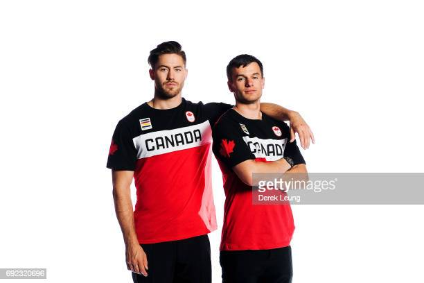 Tristan Walker and Justin Snith pose for a portrait during the Canadian Olympic Committee Portrait Shoot on June 4 2017 in Calgary Alberta Canada