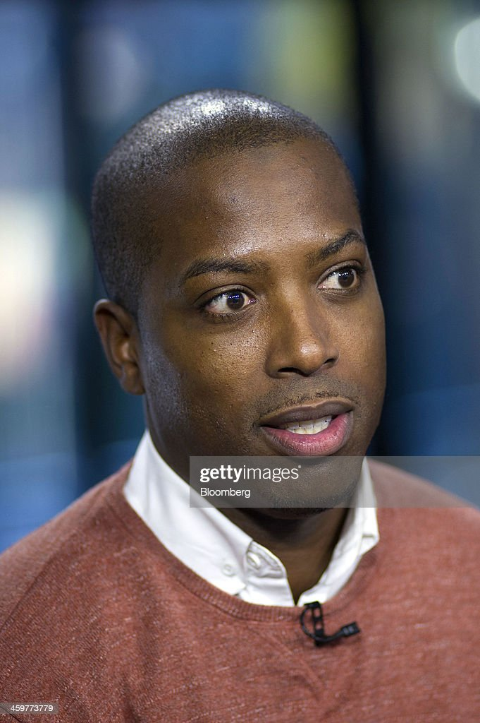 Tristan Walker, chief executive officer of Walker & Company Brands, speaks during a Bloomberg West Television interview in San Francisco, California, U.S., on Thursday, Dec. 26, 2013. Walker & Company Brands develops products to make health and beauty simple for people of color. Photographer: David Paul Morris/Bloomberg via Getty Images