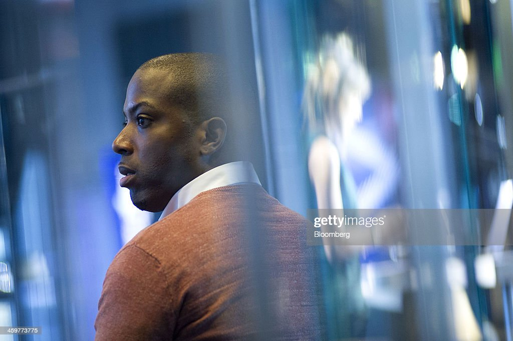Tristan Walker, chief executive officer of Walker & Company Brands, waits to start a Bloomberg West Television interview in San Francisco, California, U.S., on Thursday, Dec. 26, 2013. Walker & Company Brands develops products to make health and beauty simple for people of color. Photographer: David Paul Morris/Bloomberg via Getty Images