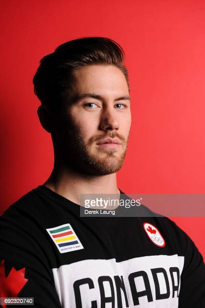 Tristan Walker poses for a portrait during the Canadian Olympic Committee Portrait Shoot on June 4 2017 in Calgary Alberta Canada