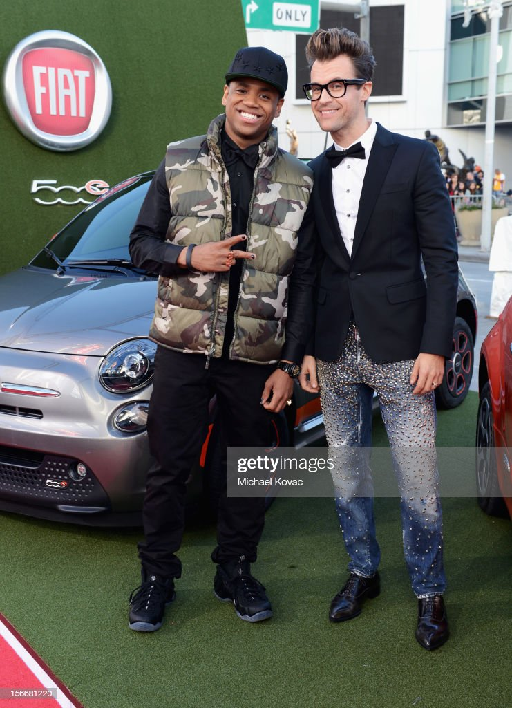 Tristan Wilds and Brad Goreski attend Fiat's Into The Green during the 40th American Music Awards held at Nokia Theatre L.A. Live on November 18, 2012 in Los Angeles, California.