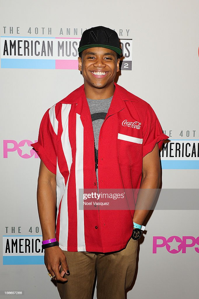 <a gi-track='captionPersonalityLinkClicked' href=/galleries/search?phrase=Tristan+Wilds&family=editorial&specificpeople=3025356 ng-click='$event.stopPropagation()'>Tristan Wilds</a> attends the 40th Anniversary American Music Awards Charity Bowl Pre-Party at Lucky Strike Lanes at L.A. Live on November 17, 2012 in Los Angeles, California.