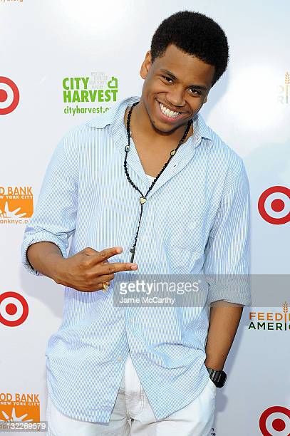Tristan Wilds helped assemble 150000 meals at the Target Party for Good Making Meals to Feed Young Minds on June 29 as part of the 2010 National...
