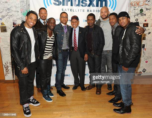 Tristan Wilds Terrence Howard Elijah Kelly Cuba Gooding Jr Roscoe Brown David Oyelowo Anthony Hemingway Nate Parker and NeYo of the movie 'Red Tails'...
