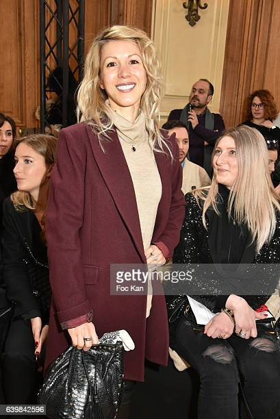Tristane Banon attends the Dany Atrache Haute Couture Spring Summer 2017 show as part of Paris Fashion Week>> on January 23 2017 in Paris France