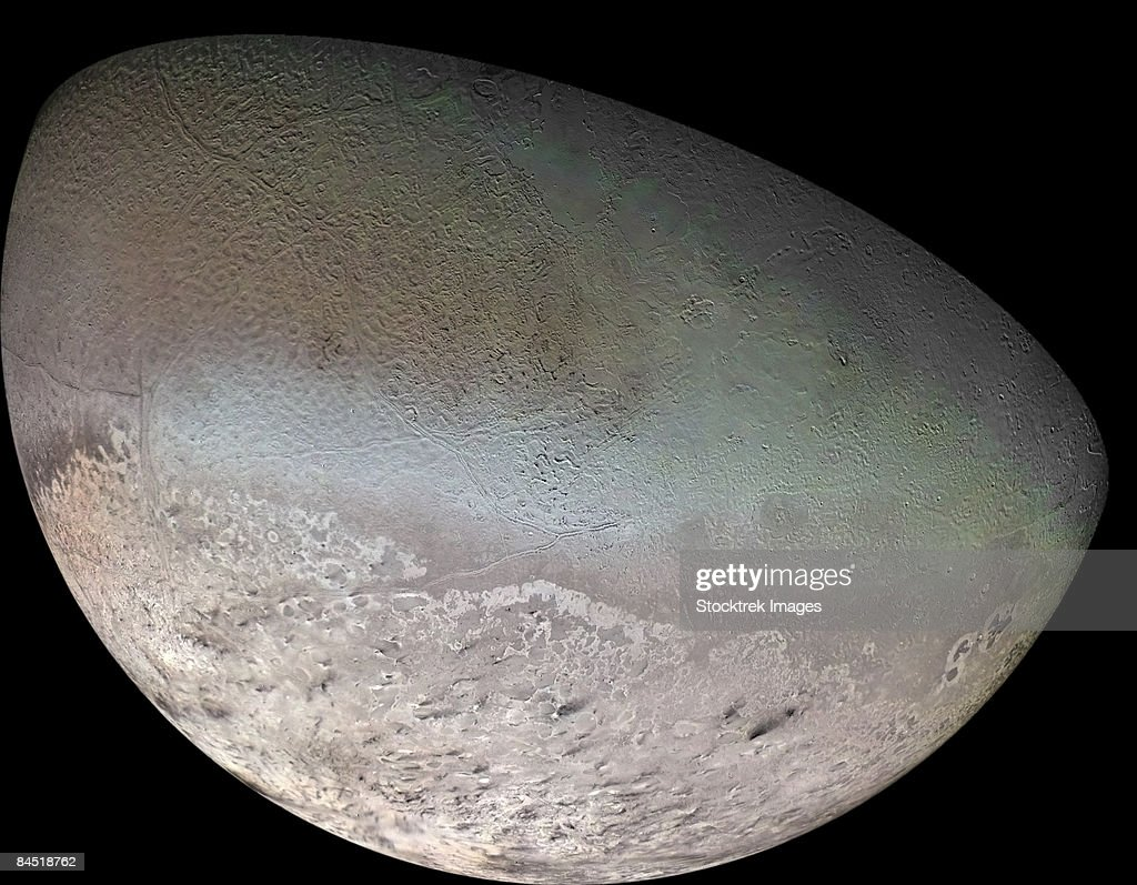 Triton, the largest moon of planet Neptune.
