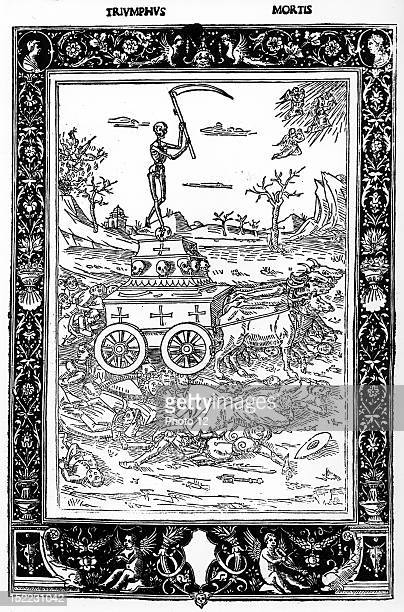 Triumph of death at the time of plague epidemic