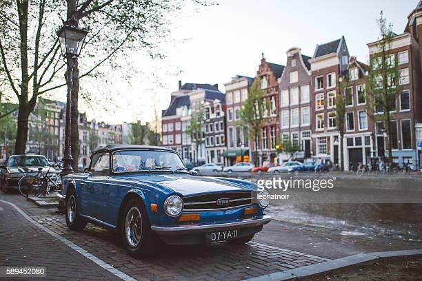 Triumph TR6 in Amsterdam