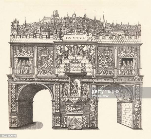 Triumphal Arch Erected in Honour of King James's Entrance into and passage through London' From James I and VI by T F Henderson [Goupil Co Paris...