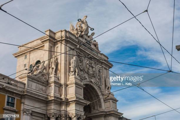 Triumphal Arch of Rua Augusta is situated on the northern side of Commerce Square in Baixa