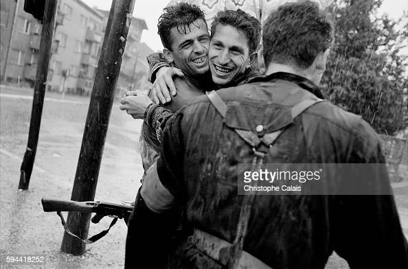 Triumphal entry of the Kosovo Liberation Army in Prizren The KLA was an ethnic Albanian paramilitary group which sought independence for the province...