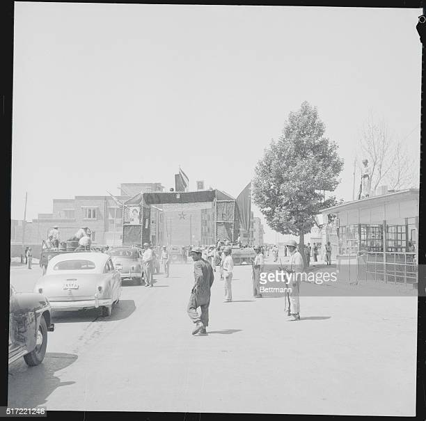 Triumphant Return Tehran Iran As the welcoming procession or Shah Mohammed Reza Pahlevi moves through the streets of Tehran the Shah's car approaches...