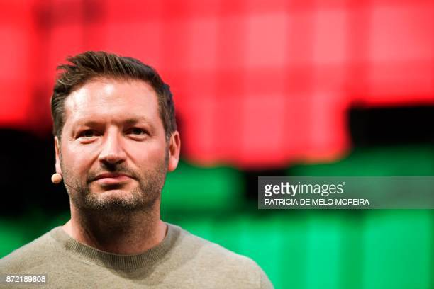 Trivago's cofounder and chief executive officer Rolf Schromgens speaks during a debate at the 2017 Web Summit in Lisbon on November 9 2017 Europe's...