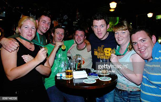 Trivia winners with their medals Niamh Ahern Micky McCarthy Fearghal MacAonghusa Gerry O'Mearaigh Dave Golden Orla O'Connell and Adrian Golden at...