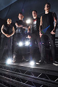 Trivium pose at Bloodstock Festival at Catton Park on August 7 2015 in Burton upon Trent England