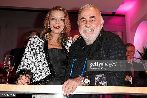 Trixie Melles and Udo Walz attend the Bertelsmann Summer Party on June 18 2015 in Berlin Germany