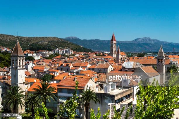 Trogir view from top of Kamerlengo Fortress , Croatia