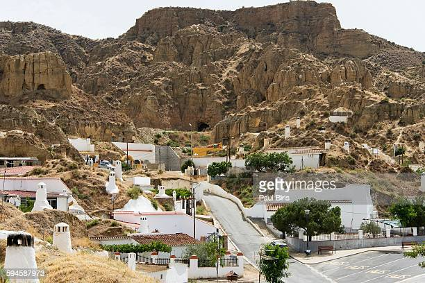 Troglodyte cave dwellings in Guadix