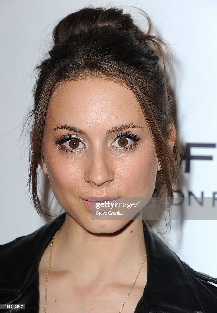 <a gi-track='captionPersonalityLinkClicked' href=/galleries/search?phrase=Troian+Bellisario&family=editorial&specificpeople=6886214 ng-click='$event.stopPropagation()'>Troian Bellisario</a> arrives at the Marie Claire's Fresh Faces Party at Soho House on April 8, 2014 in West Hollywood, California.