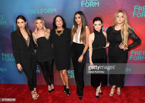 Troian Bellisario Ashley Benson Executive Producer I Marlene King Shay Mitchell Lucy Hale and Sasha Pieterse of 'Pretty Little Liars' attend Freeform...