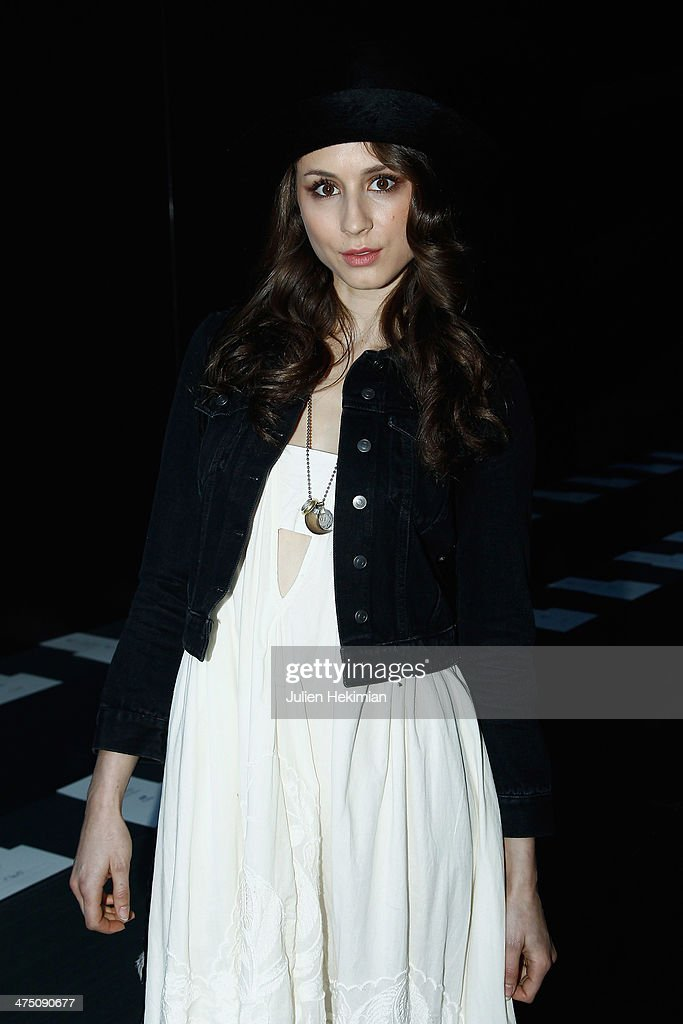 Troian Bellisario attends the H&M show as part of the Paris Fashion Week Womenswear Fall/Winter 2014-2015 on February 26, 2014 in Paris, France.