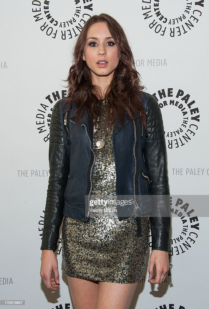 <a gi-track='captionPersonalityLinkClicked' href=/galleries/search?phrase=Troian+Bellisario&family=editorial&specificpeople=6886214 ng-click='$event.stopPropagation()'>Troian Bellisario</a> attends The Paley Center For Media Presents An Evening With 'Pretty Little Liars' at The Paley Center for Media on June 10, 2013 in Beverly Hills, California.