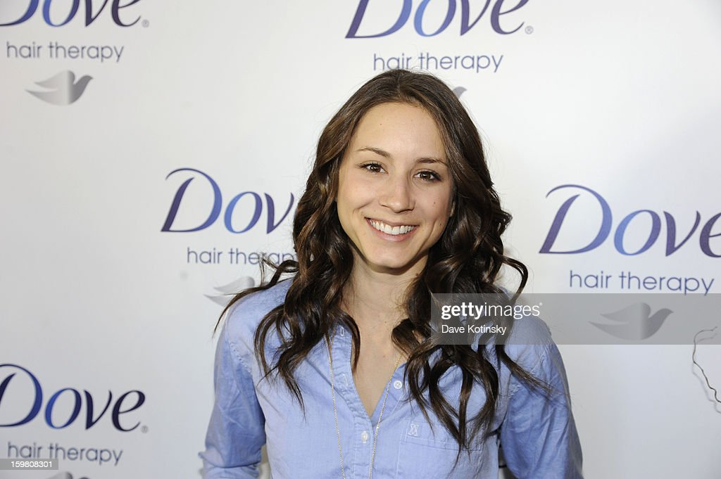 <a gi-track='captionPersonalityLinkClicked' href=/galleries/search?phrase=Troian+Bellisario&family=editorial&specificpeople=6886214 ng-click='$event.stopPropagation()'>Troian Bellisario</a> visited the Dove Color Care Salon in Park City to get her hair washed and styled with the new Dove Color Care products on January 20, 2013 in Park City, Utah.