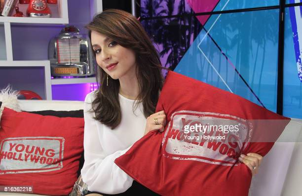 Troian Bellisario visits the Young Hollywood Studio on July 17 2017 in Los Angeles California