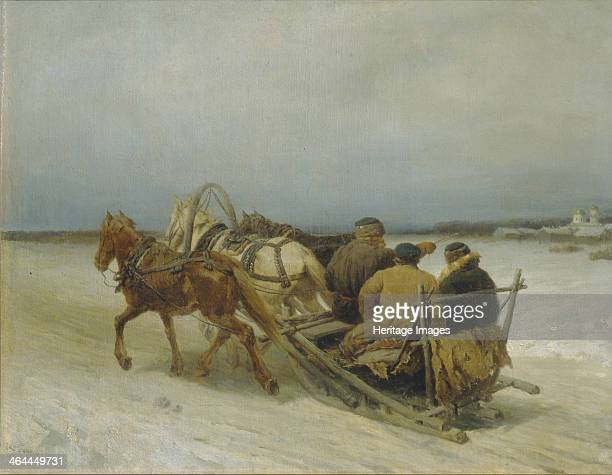 Troika in Winter 1880s Found in the collection of the State Art Museum Tula
